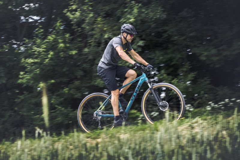De Cube Aim SL is ideaal voor de beginnende mountainbiker.