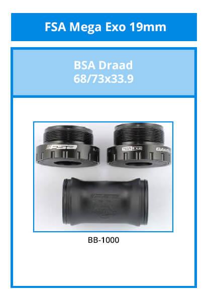 FSA Mega Exo 19mm für Achsen mit 19mm Durchmesser.