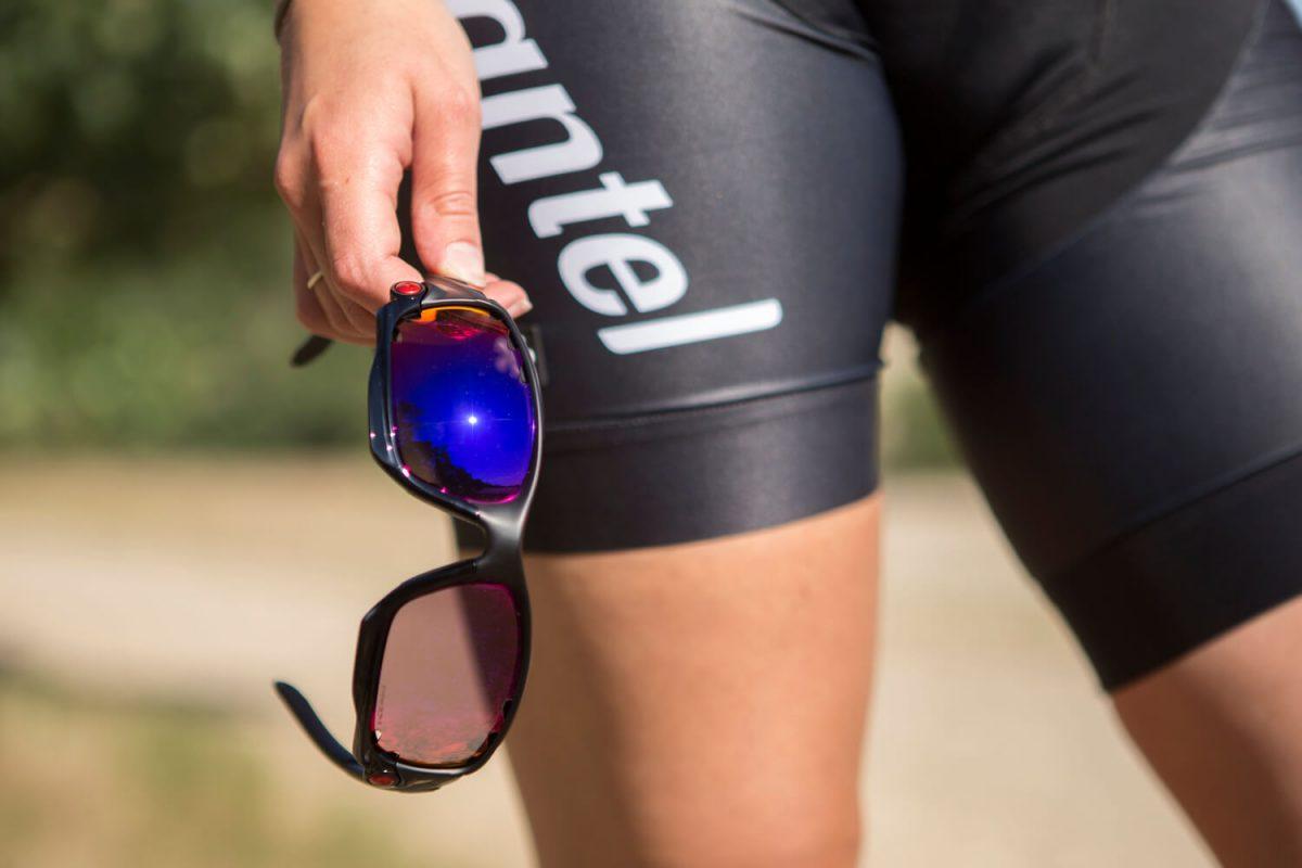 Een van de Oakley fietsbrillen voor fietsdragers