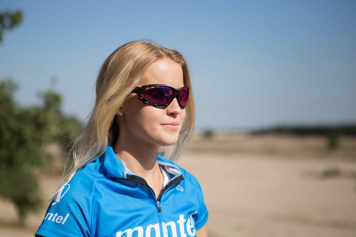 Een fietsbril is vooral handig als hij de ogen ruimschoots afdekt.