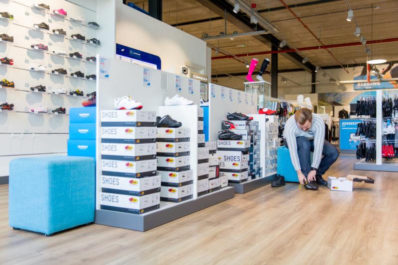 Schoenen passen in de Superstore