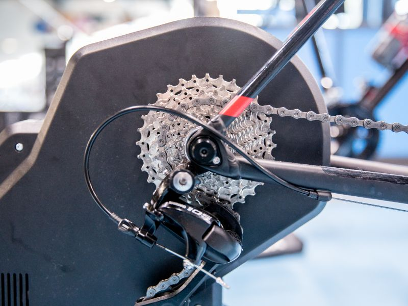 Before using a direct drive turbo trainer you only need to provide it with a cassette. The trainer replaces your rear wheel.