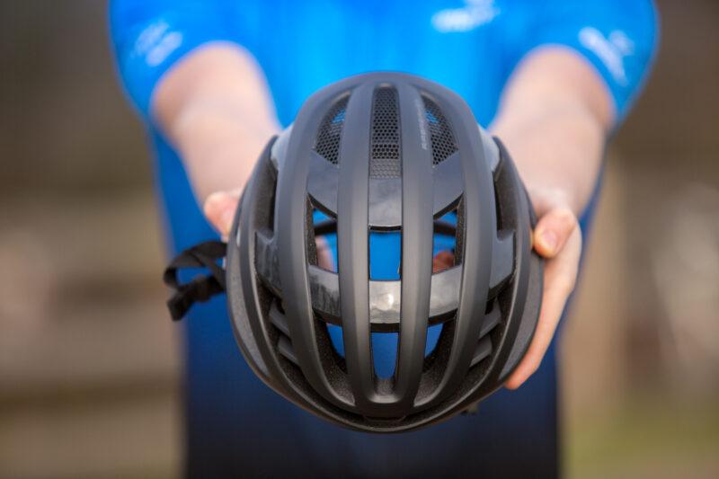 binnenkant racefiets helm