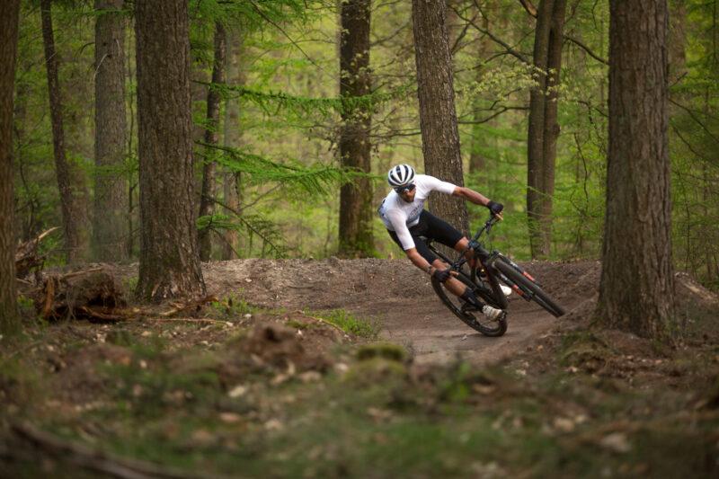 Als beginnende mountainbiker ga je misschien nog niet zo zelfverzekerd door de bochten.