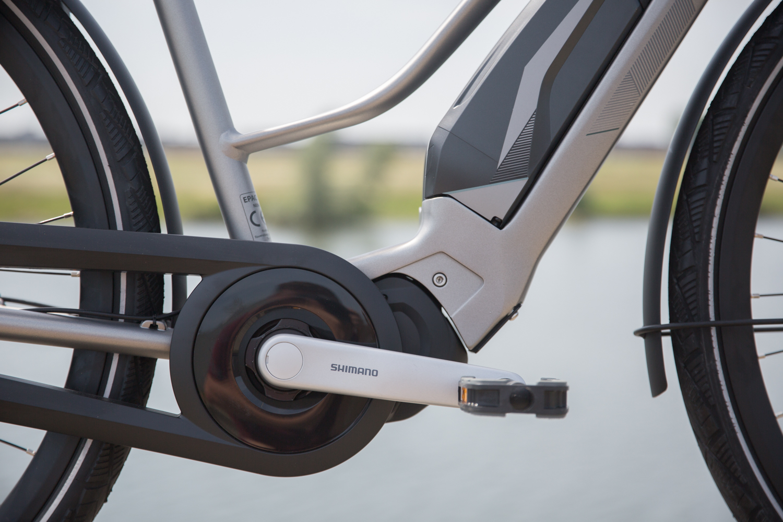 De Shimano-STePS middenmotor zorgt voor een goede kracht overbrenging.