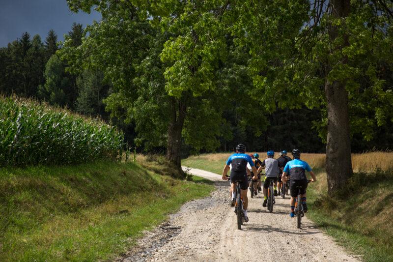 toertocht op de mountainbike
