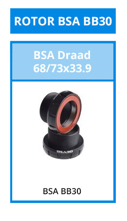 Bottom brackets - The special bottom bracket bearings from Rotor for which you also need Rotor cranks.