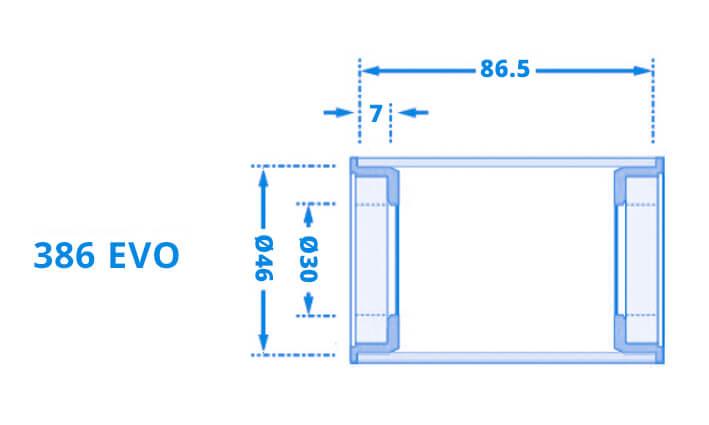 BB386EVO ist ein Tretlagergehäuse-Typ von FSA, der eine ideale Kombination von geringem Gewicht und Steifigkeit bieten soll.