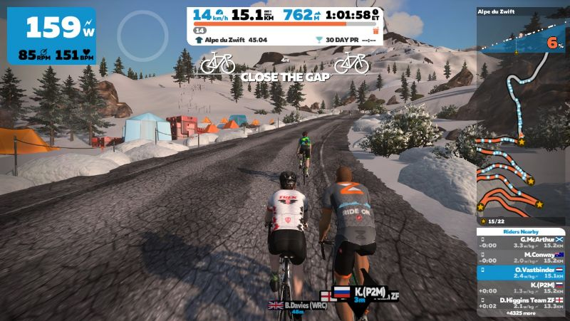 With Zwift, you will never get bored on your turbo trainer.