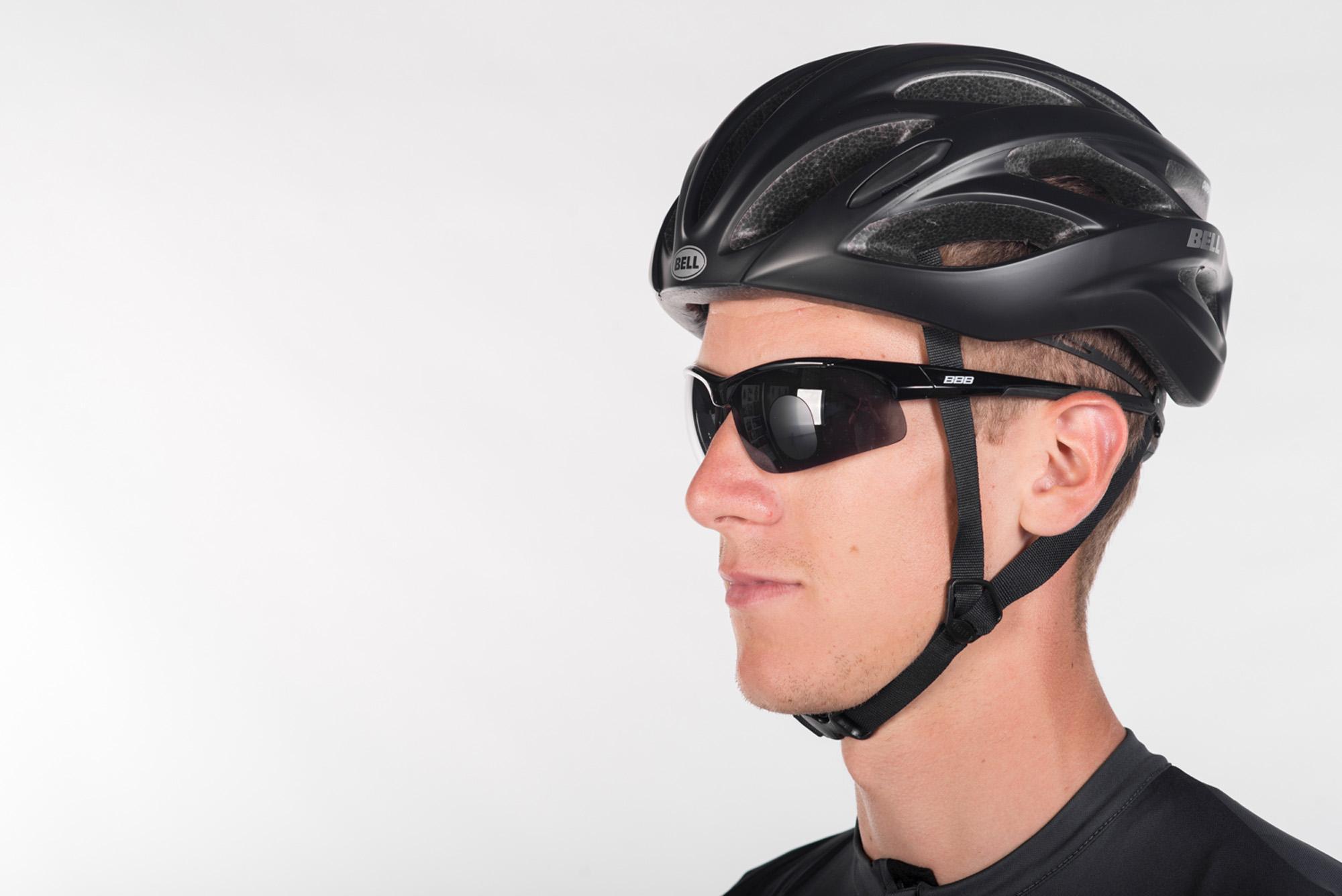 Het leesgedeelte van deze BBB cycling fietsbril valt amper op.