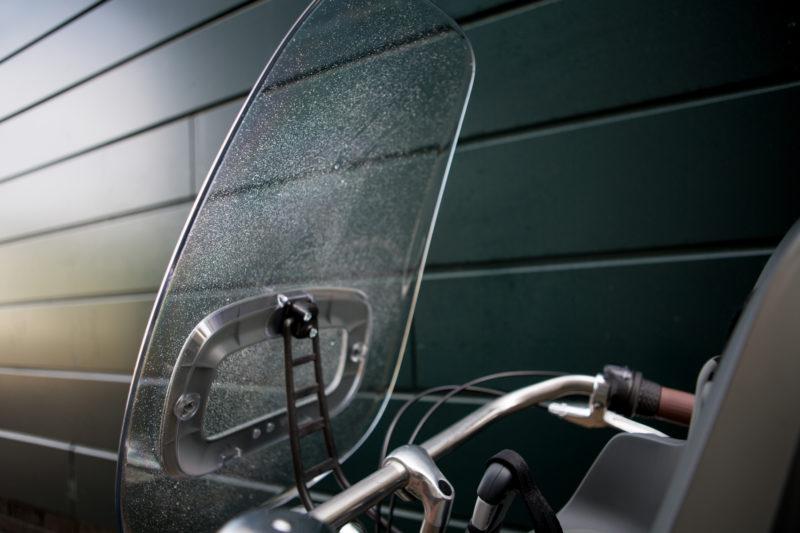 fietsstoeltje met windscherm