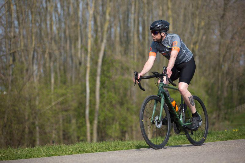 Na een flink aantal korte en langere ritten ziet de Castelli fietsbroek er nog top uit.