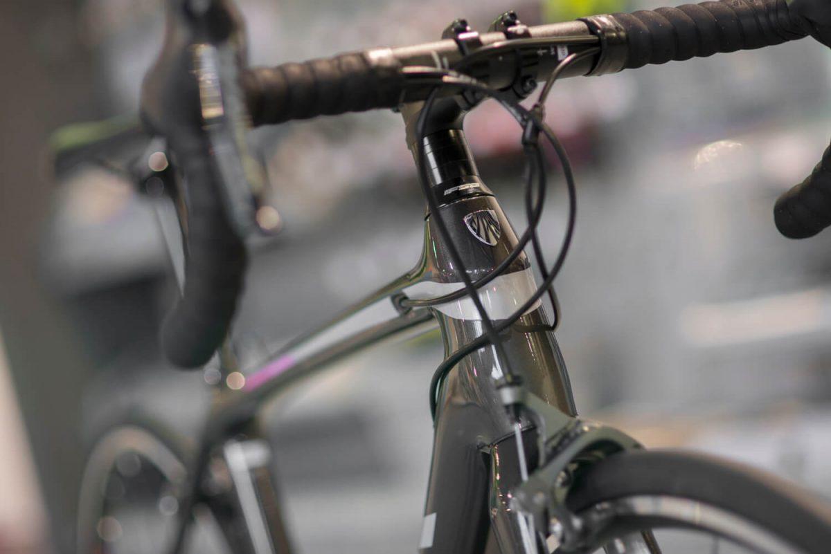 De aangepaste geometrie op een vrouwspecifieke racefiets zorgt voor een fijnere fietshouding