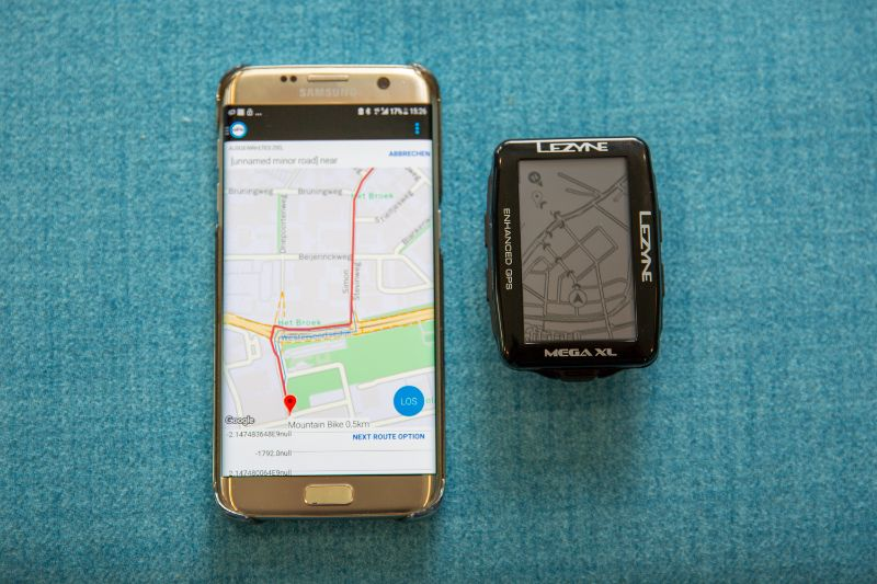 Even koppelen met de Lezyne app op je smartphone en je synchroniseert alles snel en zonder gedoe, ook routes.
