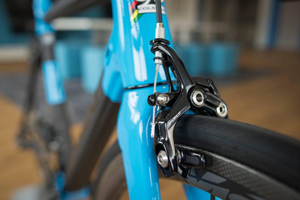 Das Rennrad, auf dem die FSA WE montiert wurde, war auch schon eine Augenweide.
