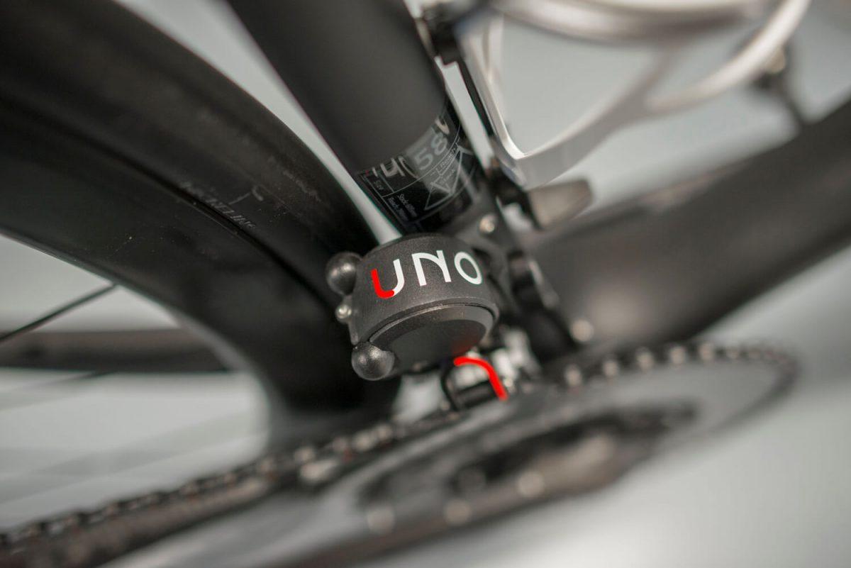 Auch der Umwerfer ist bildschön auf der Rotor Uno.