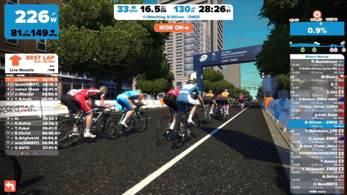 Imiter les championnats du monde du cyclisme ? Ceci est possible avec le parcours de Richmond.