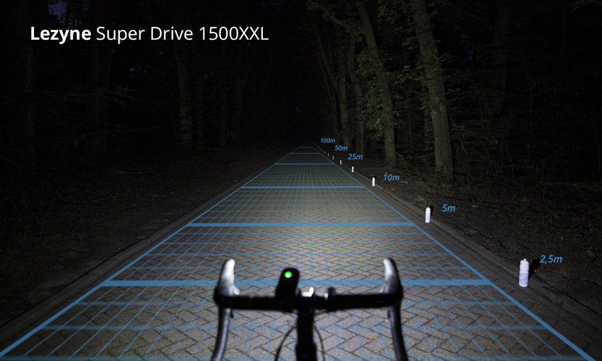 Lezyne Super Drive 1500XXL Front Cycling Headlight Black