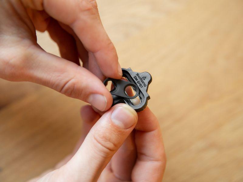 Pedalklossar kan också justeras i sidled lite.