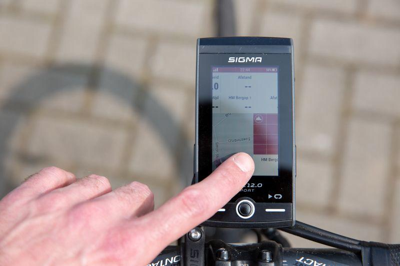 Ook de gloednieuwe Sigma Rox 12.0 GPS kun je zelf even aan de tand voelen.