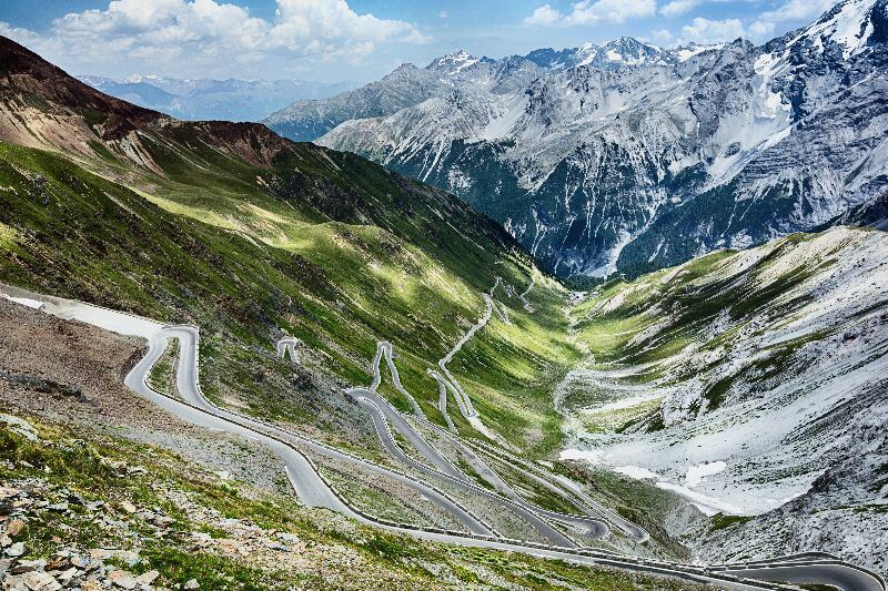 But you'll be rewarded with a beautiful view over the hairpin bends that you've just conquered.