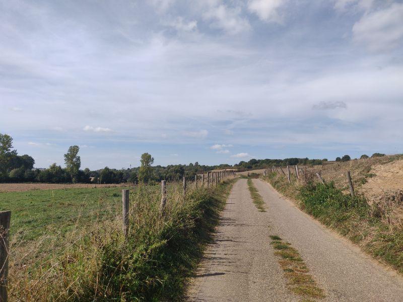 Een kwart van mijn route ging over minder goede of onverharde wegen.