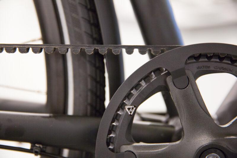 fiets met riemaandrijving