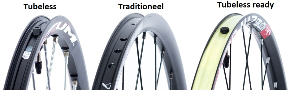 Tubeless, traditioneel en Tubeless Ready