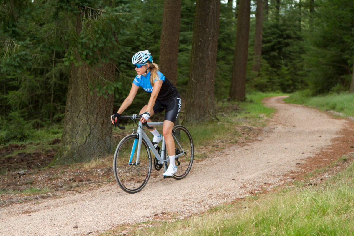 There's always a chance of punctures if there's grit on the road.