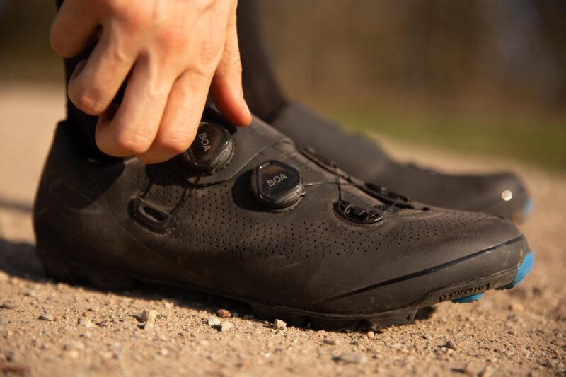 mountainbike schoen met draaisluiting