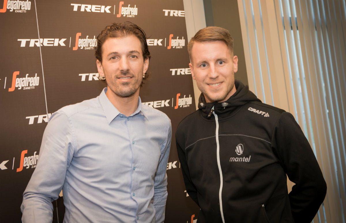 Fabian Cancellara met content editor Alex
