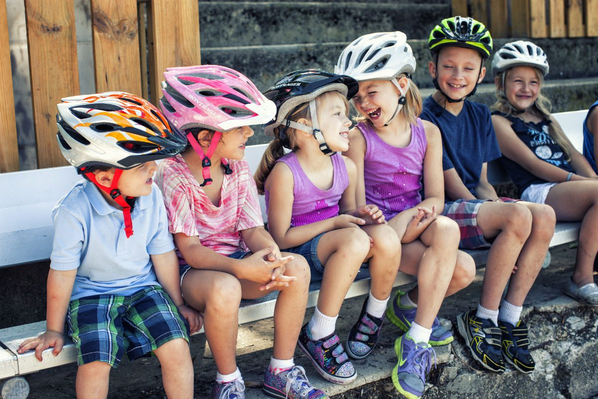 Bicycle helmets for kids really come in all colours.
