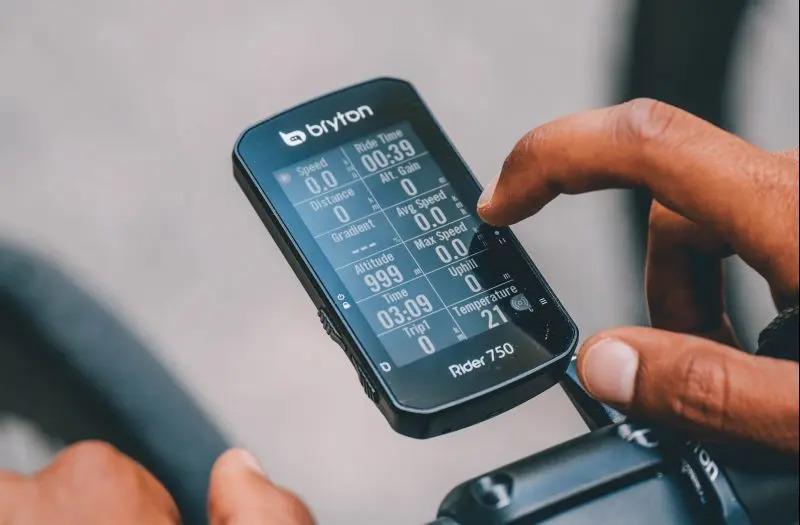 fietscomputer touchscreen