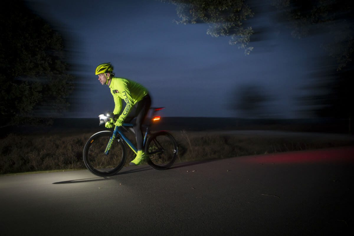 Striking reflective cycling clothing combined with proper bicycle lights  ensures optimal visibility on the road. 78b68d622