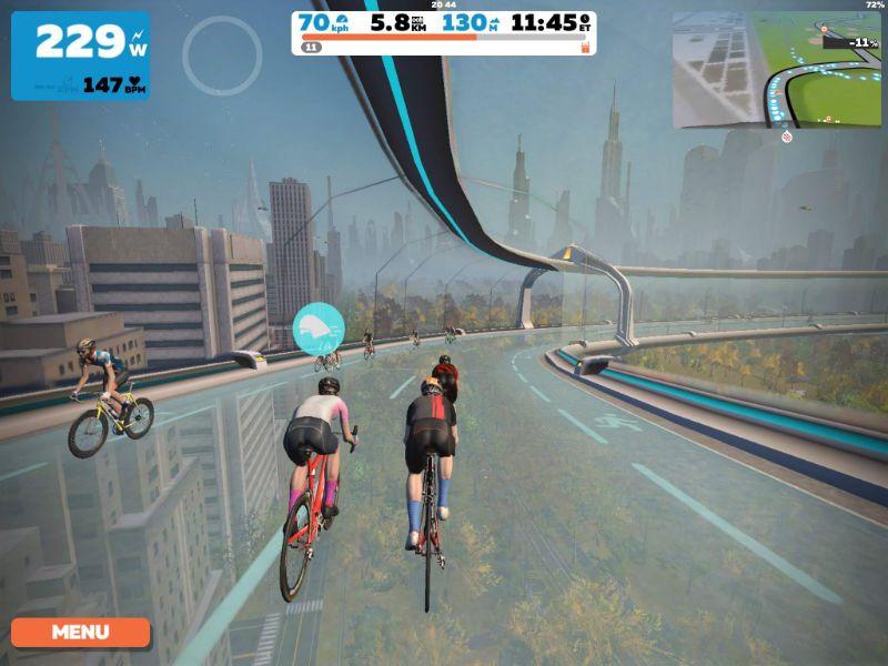 De interactie met Zwift is erg soepel, zoals je gewend bent van de fietstrainers van Tacx.